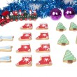 Christmas Decoration And Cookies — Stock Photo