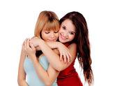 Duas irmãs adolescentes isoladas — Foto Stock