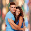Stock Photo: Enamored couple hugging