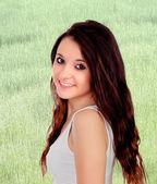 Pretty teenage girl with big eyes — Stock Photo