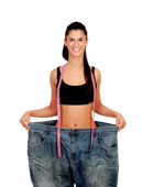 Objective achieved. Woman at her ideal weight — Foto Stock