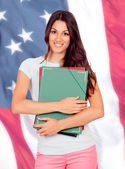 Pretty American university — Stock Photo
