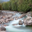Nice river with clear water flowing — Stock Photo #35402291