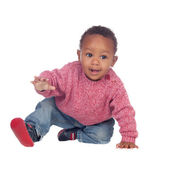 Beautiful African American baby crawling — Stock Photo