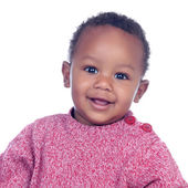Adorable african baby smiling — Stock Photo