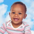 Adorable african baby smiling — Stockfoto