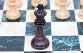 The king. Wooden chess piece — Stock Photo