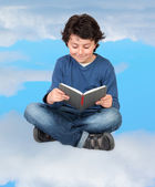 Reading in the clouds — Foto de Stock