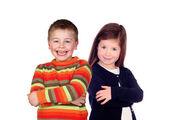 Dvě šťastné děti — Stock fotografie