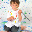 Funny boy painting — Stock Photo #46958259