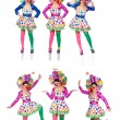 Sequence photos funny woman in clown — Stock Photo #46958289