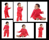 Sequence of a african baby standing   — Stock Photo