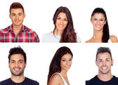 Collage with six images of young people — Stock Photo