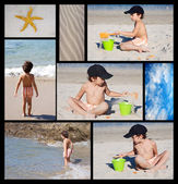 A child on the beach — Stock Photo