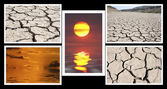 Collage of images of drought and heat — Photo