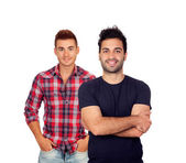 Two attractive young men — Stock Photo