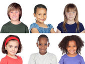 Photo collage of children — Stock Photo