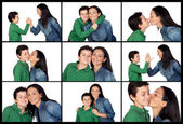 Different expressions between a mother and her son   — Stock Photo