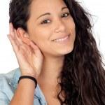 Attractive woman listening — Stock Photo #9425873