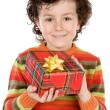Child with a gift box — Stock Photo #9433212