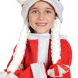 Beautiful little girl dressed in Santa Claus — Stock Photo #9436401