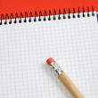 Pencil and notebook — Stock Photo #9440684