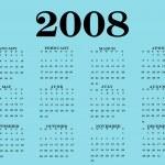 2008 Calendar — Stock Photo #9440836
