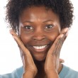 African American Woman Smilling — Stock Photo #9503665