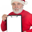 Santa Claus with blank clipboard — Stock Photo #9504102