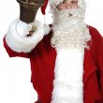 Santa Claus pealing a bell — Stock Photo #9504325