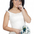Attractive lady thinking if it takes marriage — Stock Photo #9507876