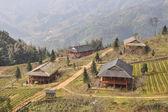 Lo vista del villaggio di lao chai — Foto Stock
