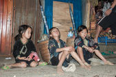Poor Black Hmong Kids — Stock Photo