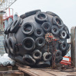 Stock Photo: Huge Fender of Drill Ship