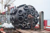 Gran defensa del barco taladro — Foto de Stock