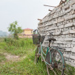Bicycle Standing near a Wall — Stock Photo #13775445