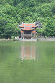 Pagoda on the Bank of a River — Stock Photo