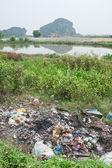 Rubbish Polluting the Nature — Stock Photo