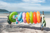 Ring Buoys on the Beach — Stock Photo