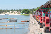 Row of Tuk-Tuk on a Jetty — Stock Photo