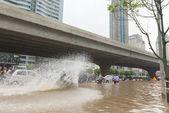 Splashes from Motorbike — Stock Photo