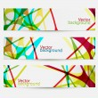 Set of three colorful abstract banners — Stock Vector