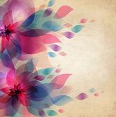 花のベクトルの背景 — ストックベクタ