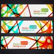 Stock Vector: Set of three colorful abstract horizontal banners