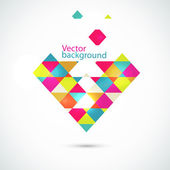 Abstract vector background with triangles — Stock Vector