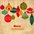 Royalty-Free Stock Векторное изображение: Card with Christmas balls