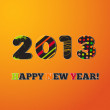 Royalty-Free Stock Vector Image: Happy new year 2013, colorful design