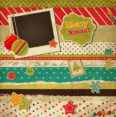 Christmas scrap vintage card — Stock Vector