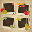 Scrap holiday vintage set of photo frames for Christmas and New Year — Stock Vector