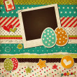 Easter vintage scrap card with eggs — Stock Vector #22590737
